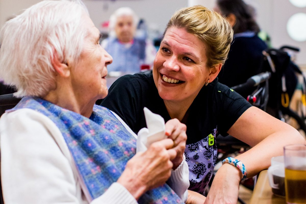 Nurse and Senior chat
